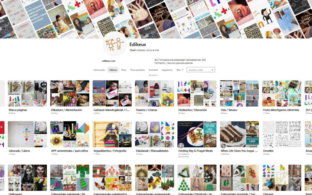 Inspirazioa bilatzeko sare soziala; Pinterest